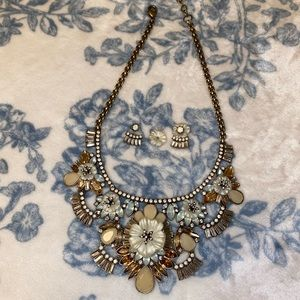 Statement Necklace & Earrings & Bracelet